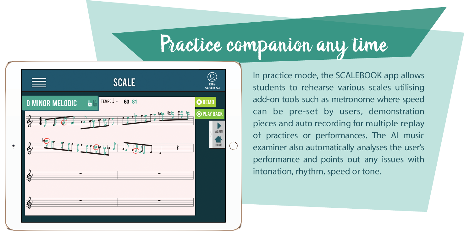Practice companion any time